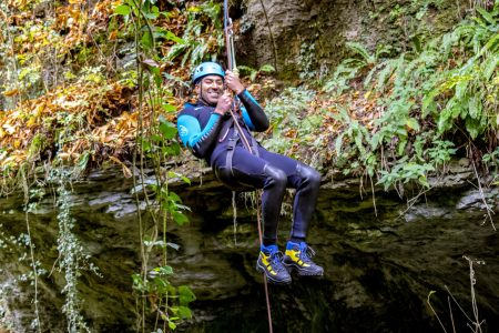 Blind adventurer Amar Latif takes on Air TV's BBC River Walk in Yorkshire